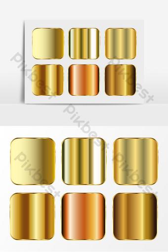 金屬金色光澤紋理效果ai矢量元素 元素 模板 AI