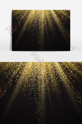 polvo dorado luz ai elementos vectoriales Elementos graficos Modelo AI
