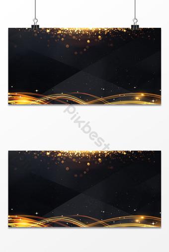 Czarno-złota tekstura marzenie efekt świetlny reklama plakat tło mapa Tła Szablon PSD