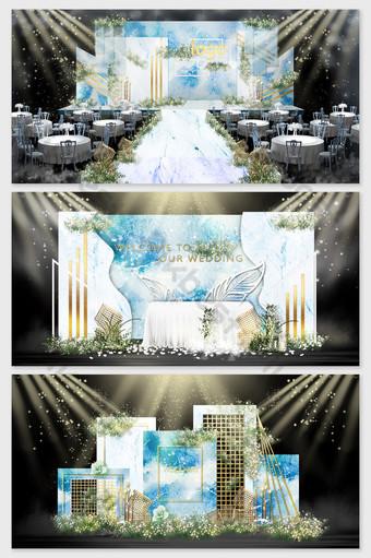 imagen de efecto de boda de mancha de mármol azul simple moderno Decoración y modelo Modelo PSD