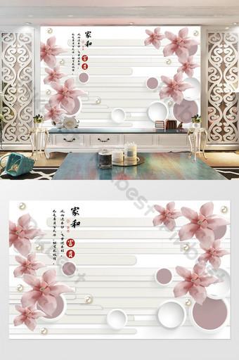 simple joyería floral marco redondo hogar y rica pared de fondo Decoración y modelo Modelo PSD
