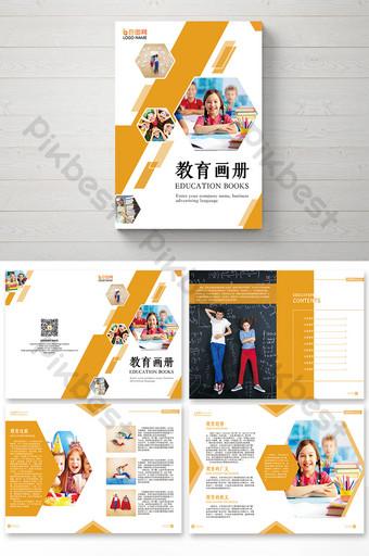 buku bergambar pendidikan anak geometris sederhana Templat CDR