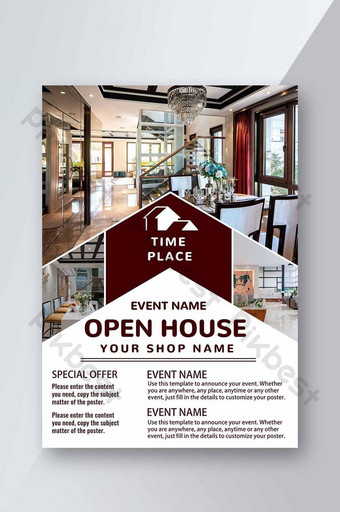 Open House Flyer Template from pic.pikbest.com