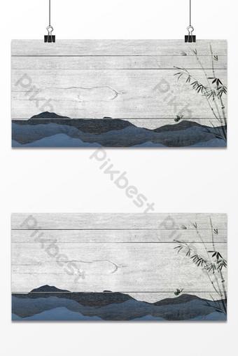 estilo chino rojo gris textura montaña bambú hojas fondo antiguo Fondos Modelo PSD