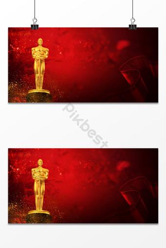 Fondo de estilo del festival de cine de los premios oscar romantic golden man Fondos Modelo PSD