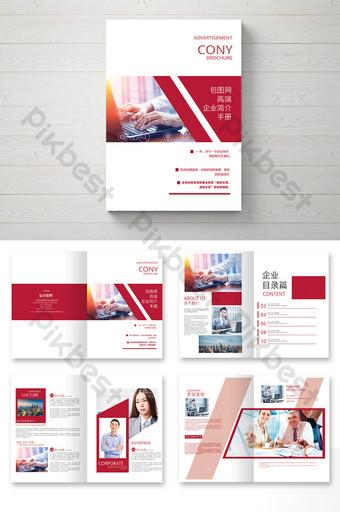 Brochure de profil d'entreprise moderne rouge Modèle AI