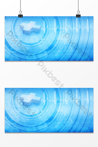 Science and technology medical line segment aperture electrocardiogram business background Template PSD