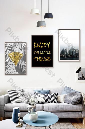 جين العمارة الأوروبية الإنجليزية المشهد غرفة المعيشة غرفة نوم فندق الديكور اللوحة الديكور والنموذج قالب PSD
