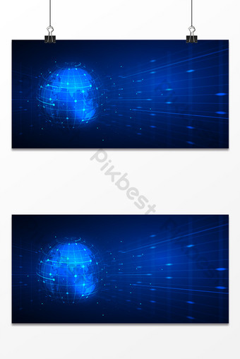 Blue business technology sense earth line universal information age background Backgrounds Template PSD