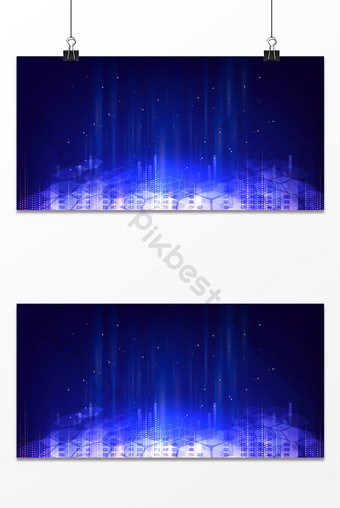 Blue Business Technology Sense Impacts Light Effect Future Information Age Background Backgrounds Template PSD
