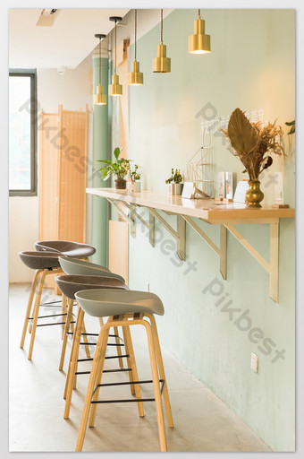small fresh cafe seating photography pictures Photo Template JPG