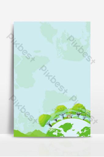 手繪卡通綠色地球愛護環境一小時背景 背景 模板 PSD