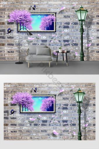 modern dan sederhana 3d dinding latar belakang eropa Dekorasi dan model Templat PSD