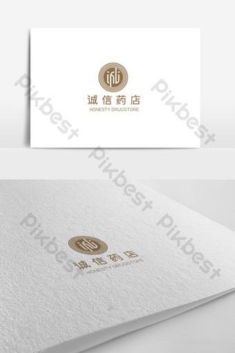 Plantilla de diseño de logotipo de farmacia china elegante y simple de alta gama Modelo AI