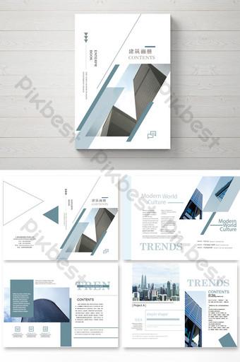 Brochure d'entreprise de construction immobilière simple Modèle AI