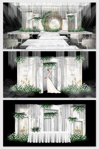صور زفاف حديثة وبسيطة من الرخام الأبيض الديكور والنموذج قالب PSD