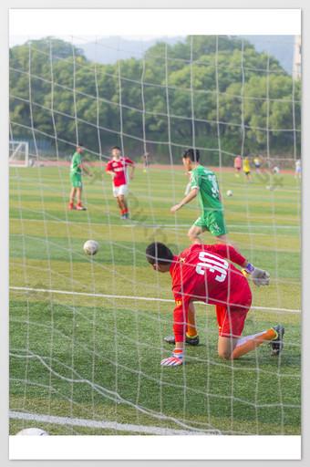 Gardien de but de football La photographie Modèle JPG