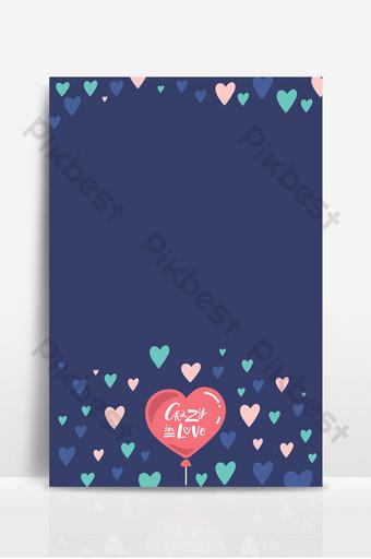 fondo de belleza de maquillaje romántico de dibujos animados dibujados a mano en forma de corazón azul Fondos Modelo PSD