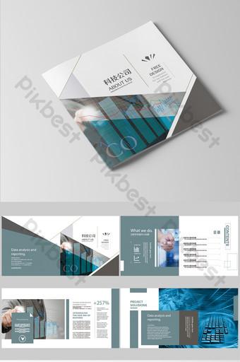 Ensemble complet de société de groupe immobilier de construction d'ingénierie gris noir et blanc Brochure Modèle AI