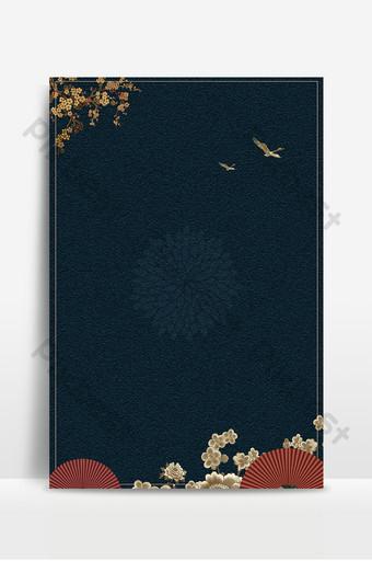 中國風民族風古典鶴紋廣告海報背景圖 背景 模板 PSD
