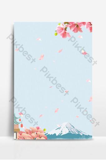 Japonia podróż turystyka wiosna wycieczka sezon kwiat wiśni tło Tła Szablon PSD
