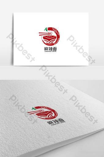 diseño de logotipo de restaurante de pasta de estilo chino de tinta Modelo CDR