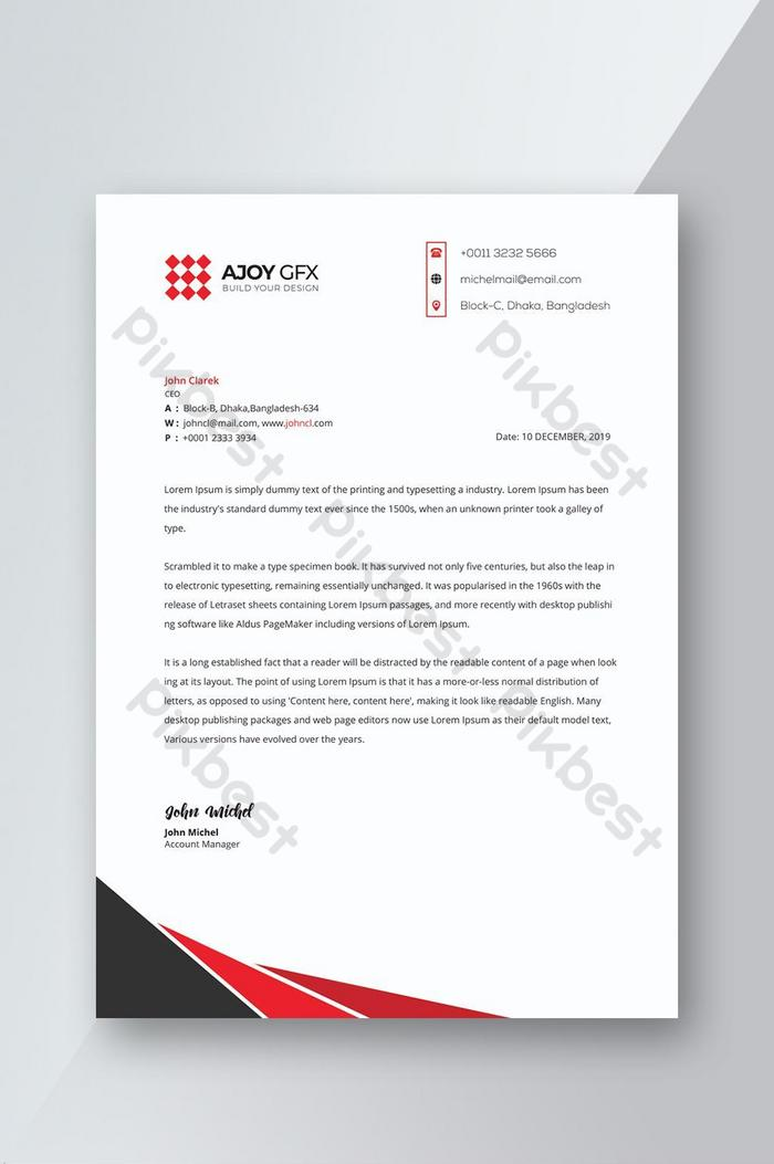 Corporate Company Letterhead Design Psd Free Download Pikbest