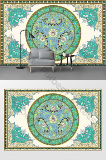 新現代簡約圖案客廳臥室背景牆 裝飾·模型 模板 PSD