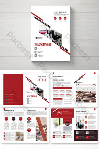 creative complete set of style smart home brochure Template PSD