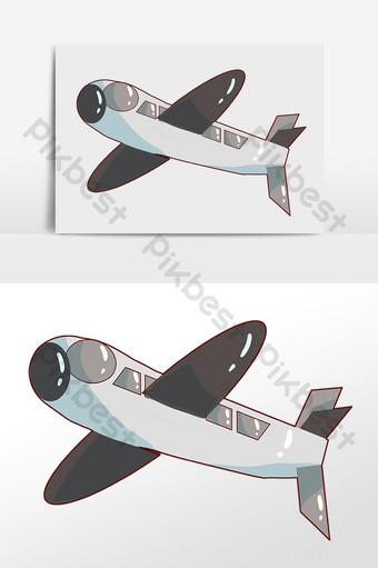 مرسومة باليد النقل الكرتون تحلق طائرة التوضيح صور PNG قالب PSD
