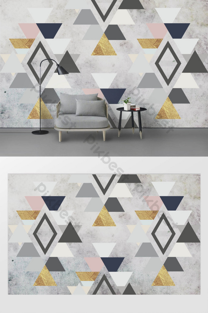 contrasting color mosaic modernong 3d tv background wall