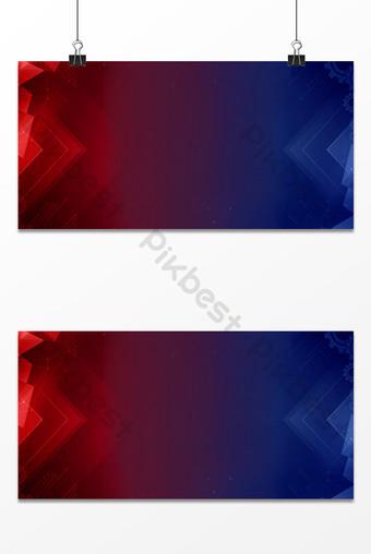 fondo fresco del cartel de la tecnología del negocio gráfico geométrico del gradiente rojo azul Fondos Modelo PSD