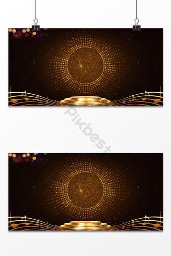 黑金色質感夢幻燈光效果音樂舞台海報背景圖片 背景 模板 PSD