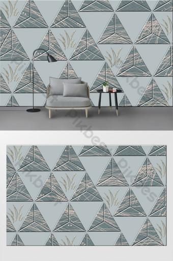 puro original 3d tridimensional gráficos geométricos simples sala de estar sofá pared de fondo Decoración y modelo Modelo PSD