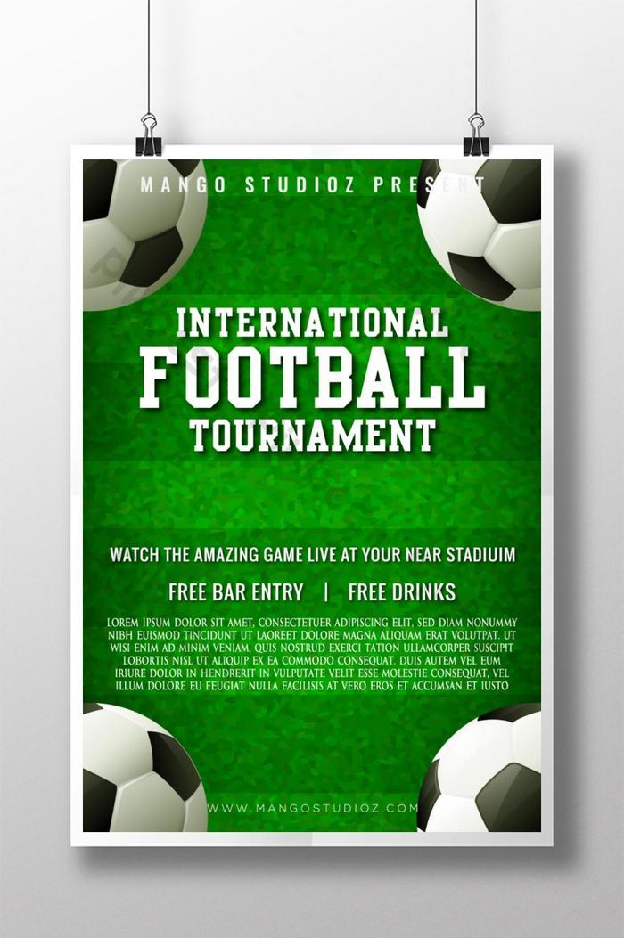 Abstract International Football Tournament Poster Design Template Ai Free Download Pikbest
