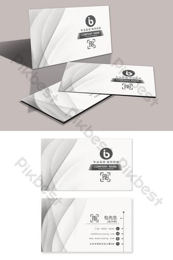 Carte de visite de concepteur d'entreprise d'impression dégradé géométrique blanc Modèle PSD