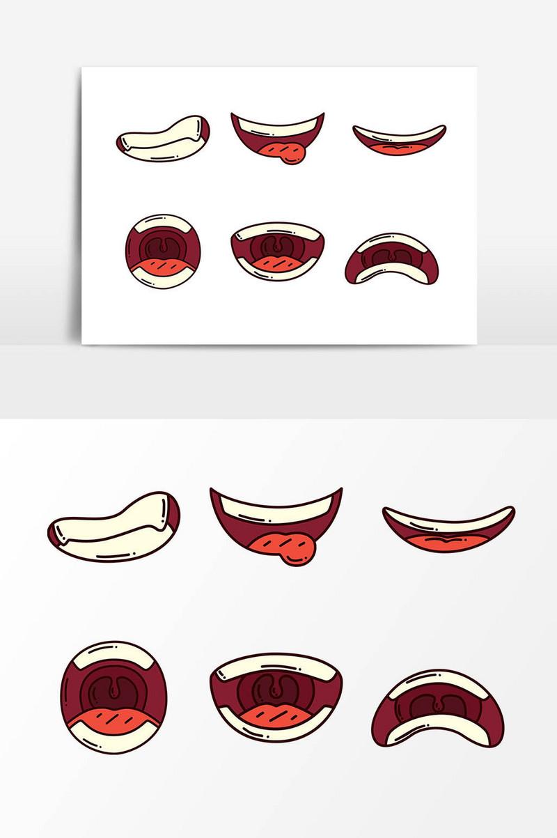 Bibir Kartun Seksi Templat Psd Vektor Download Gratis