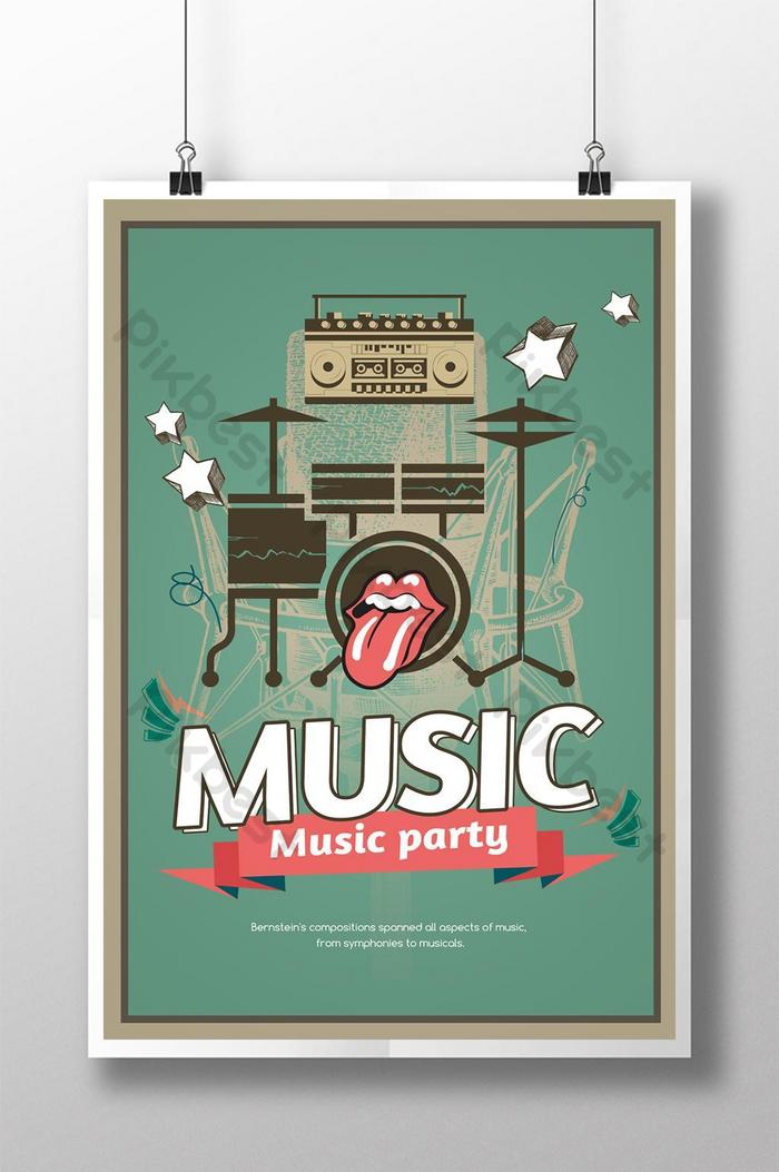 Hand Drawn Abstract Performance Music Poster Psd Free Download Pikbest