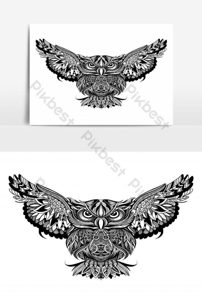 Owl With Open Wings And Claws Coloring Page Coloring Book