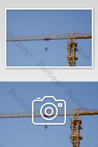 建築施工塔式起重機操作攝影圖片 攝影圖 模板 JPG