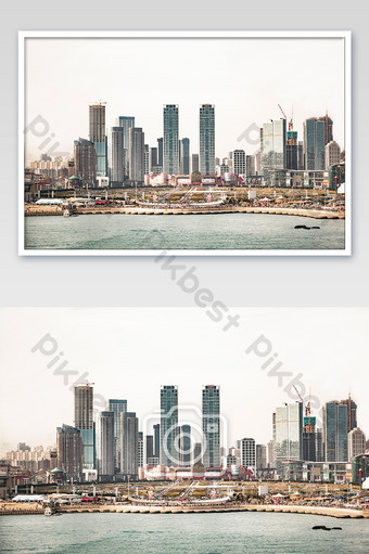 photography pictures of high-rise buildings in seaside city Photo Template JPG