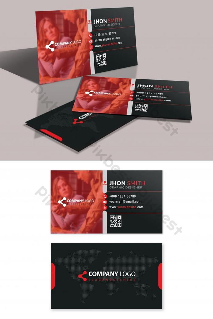 beautifulmodernredbusinesscard