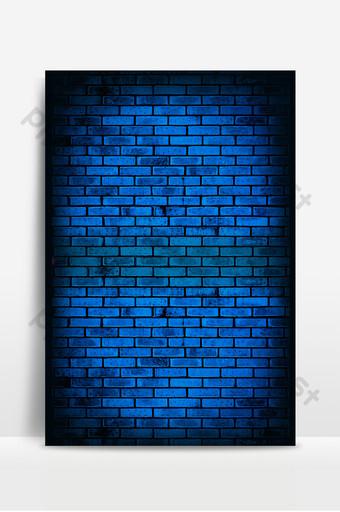 藍色牆面紋理光時尚廣告海報背景圖 背景 模板 PSD
