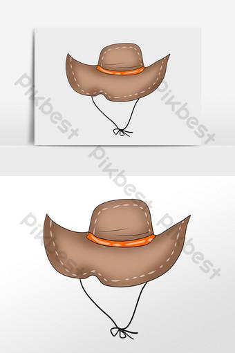 ومن ناحية رسم شاطئ الصيف السفر قبعة كبيرة الحواف sunhat التوضيح صور PNG قالب PSD