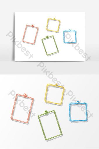 لون خط الحدود عنصر إطار الصورة صور PNG قالب PSD