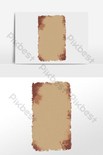 手繪復古紋理咖啡顏色舊紙圖 元素 模板 PSD