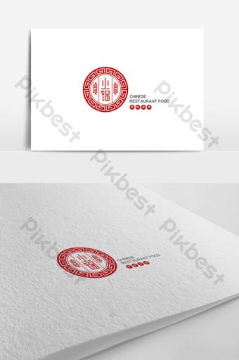 plantilla de diseño de logotipo de restaurante de olla caliente simple y concisa de estilo chino Modelo AI