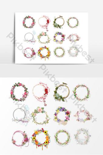 diseño de corona de acuarela pintada a mano Elementos graficos Modelo PSD