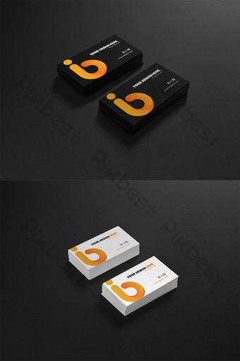 Mẫu nhãn dán logo mockup danh thiếp Bản mẫu PSD