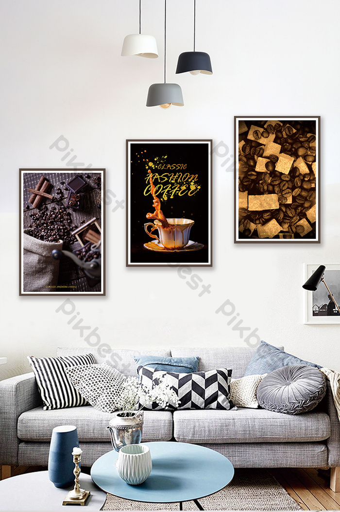 Jane European High End Black Gold Coffee Cup Bean Cafe Decoration Painting Decors 3d Models Psd Free Download Pikbest